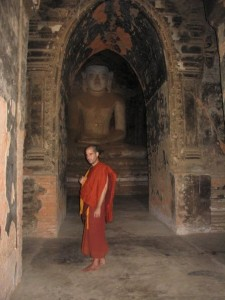 As a fully ordained Buddhist monk in Burma.